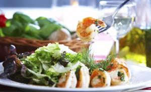 Scampi Salat